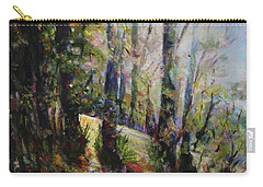 Carry-all Pouch featuring the painting Enchanted Forest by Sher Nasser