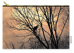 End Of The Day  Red Tailed Hawk Carry-all Pouch