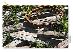 Carry-all Pouch featuring the photograph End Of The Line by Meghan at FireBonnet Art