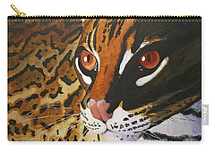 Endangered - Ocelot Carry-all Pouch by Mike Robles
