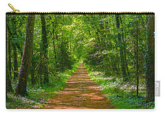 Endless Trail Into The Forest Carry-all Pouch