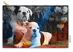 English Bulldog Puppy Painting Carry-all Pouch