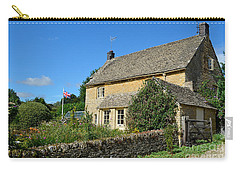 English Cottage With Garden Carry-all Pouch