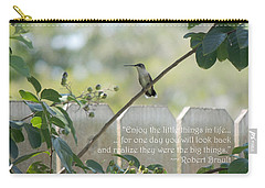 Carry-all Pouch featuring the photograph Hummingbird On Crepe Myrtle by Jayne Wilson