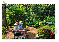 Loving Couple Enjoying Their Prayer Garden Carry-all Pouch