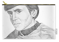 Carry-all Pouch featuring the drawing Ensign Pavel Chekov by Thomas J Herring