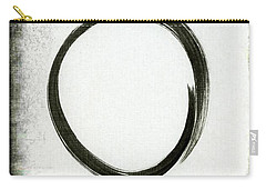 Enso #2 - Zen Circle Abstract Black And Red Carry-all Pouch