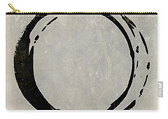 Enso No. 107 Black On Taupe Carry-all Pouch
