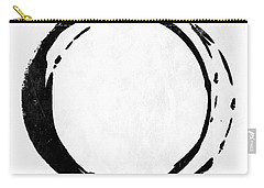 Enso No. 107 Black On White Carry-all Pouch