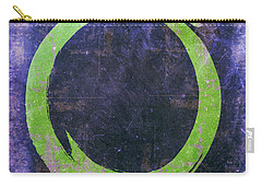 Enso No. 108 Green On Purple Carry-all Pouch