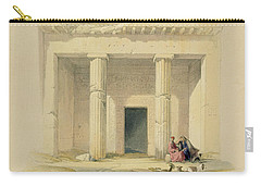 Entrance To The Caves Of Bani Hasan Carry-all Pouch by David Roberts