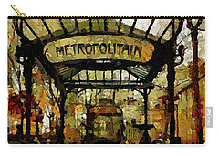 Entrance To The Paris Metro Carry-all Pouch