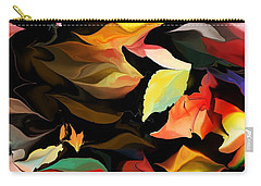 Carry-all Pouch featuring the digital art Entropic Dance Of The Salamander First Snow.  by David Lane