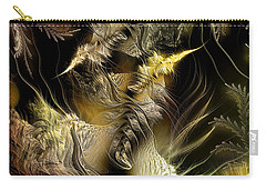 Carry-all Pouch featuring the digital art Environmental Transitions 5 by Casey Kotas