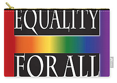 Equality Rainbow Carry-all Pouch by Jamie Lynn