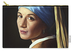 Pearl Earring Carry-All Pouches