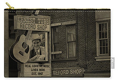 Ernest Tubb Record Shop Carry-all Pouch by Dan Sproul
