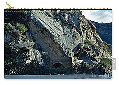 Carry-all Pouch featuring the photograph Eroding Hillside And Tunnel by Susan Wiedmann