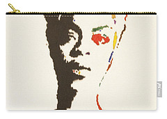 Carry-all Pouch featuring the painting Erykah Badu by Stormm Bradshaw