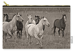 Carry-all Pouch featuring the photograph Escapees From A Lineup D8056 by Wes and Dotty Weber
