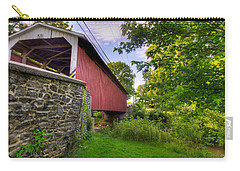 Carry-all Pouch featuring the photograph Eshelman's Mill Covered Bridge by Jim Thompson