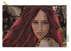 Carry-all Pouch featuring the digital art Ethere by Galen Valle