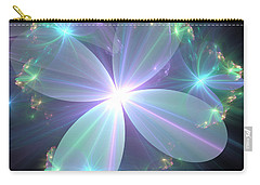 Ethereal Flower In Blue Carry-all Pouch by Svetlana Nikolova