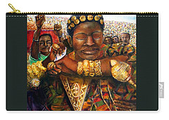 Ethiopia Dancing  Carry-all Pouch by Bernadette Krupa