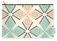 Ethnic Folk Print Carry-all Pouch