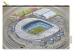 Etihad Stadium - Manchester City Carry-all Pouch by D J Rogers