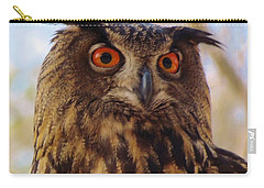 Carry-all Pouch featuring the photograph Eurasian Eagle Owl by Cynthia Guinn