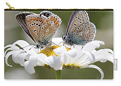 European Common Blue Butterflies Carry-all Pouch by Doris Potter