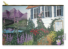 Carry-all Pouch featuring the painting European Flower Garden by Norm Starks
