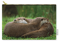 European River Otter Lutra Lutra Carry-all Pouch by Ingo Arndt