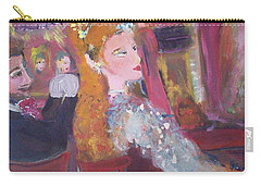 Carry-all Pouch featuring the painting Evening At The Theatre by Judith Desrosiers
