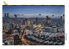 Carry-all Pouch featuring the photograph Evening City Lights by Ron Shoshani