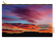 Evening Desert Skies Carry-all Pouch by Mistys DesertSerenity