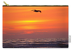 Carry-all Pouch featuring the photograph Evening Flight by Nick Kloepping