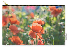 Evening Lights The Poppies Carry-all Pouch