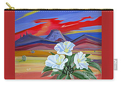 Carry-all Pouch featuring the painting Evening Primrose by Phyllis Kaltenbach