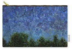 Carry-all Pouch featuring the painting Evening Star - Square by James W Johnson