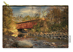 Everett Rd Summit County Ohio Covered Bridge Fall Carry-all Pouch