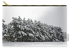 Evergreens In Snow Carry-all Pouch by Luther Fine Art