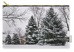 Evergreens In The Snow Carry-all Pouch