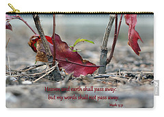 Carry-all Pouch featuring the photograph Everlasting Words by Larry Bishop