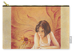 Everyday Angel With Flower Carry-all Pouch