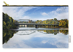 Carry-all Pouch featuring the photograph Exchange St. Bridge Rock Bottom Dam Binghamton Ny by Christina Rollo