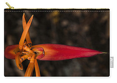 Carry-all Pouch featuring the photograph Exotic Heliconia by Steven Sparks