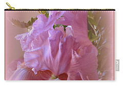 Carry-all Pouch featuring the photograph Exotic Iris by Kay Novy