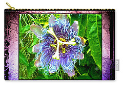 Carry-all Pouch featuring the photograph Exotic Strange Flower by Absinthe Art By Michelle LeAnn Scott